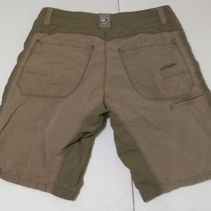 """KUHL 2 Tone Khaki Outsider Cargo 10"""" Shorts"""